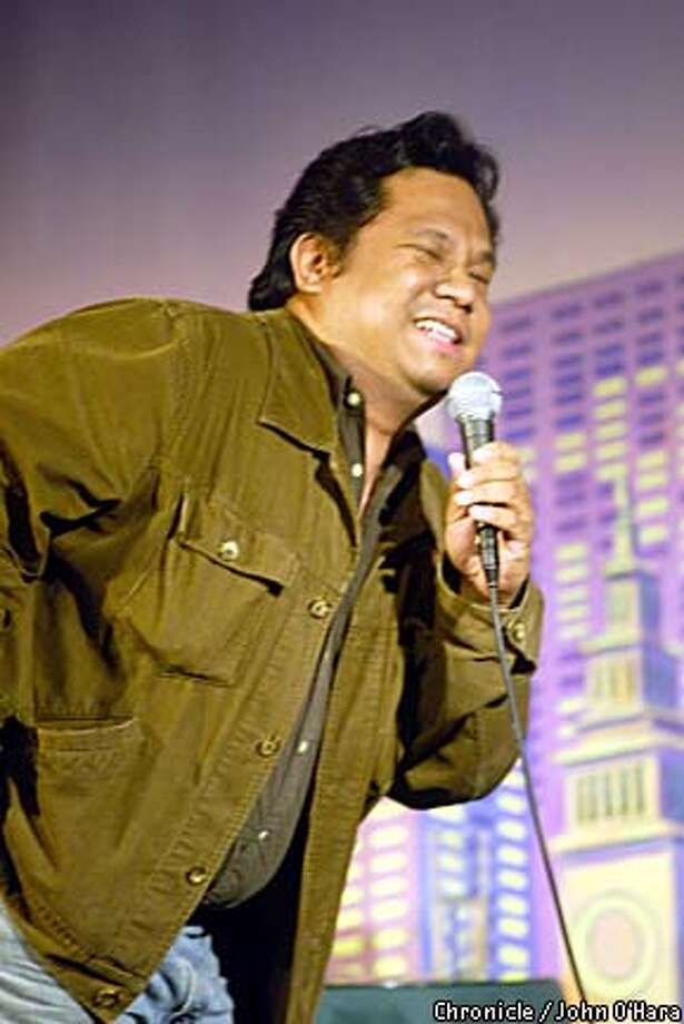 """Comedian Rex Navarrete aims to """"convey something positive about Filipinos,'' but be it on his CDs or in live shows, his act has plenty of bite."""