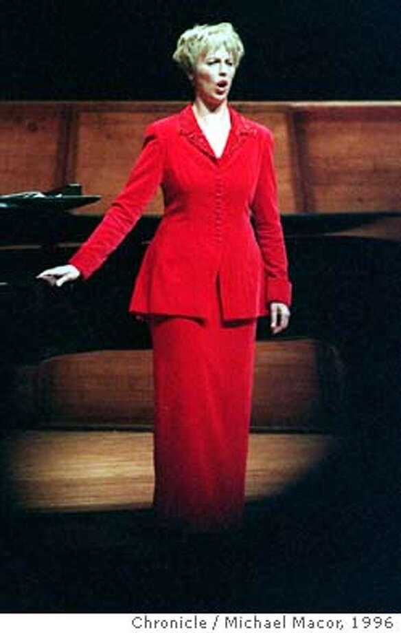 VON OTTER/C/17APR96/DD/MACOR Debut of Swedish mezzo-soprano singer Anne Sofie Von Otter at Davies Symphony Hall. Chronicle Photo: Michael Macor Photo: MICHAEL MACOR