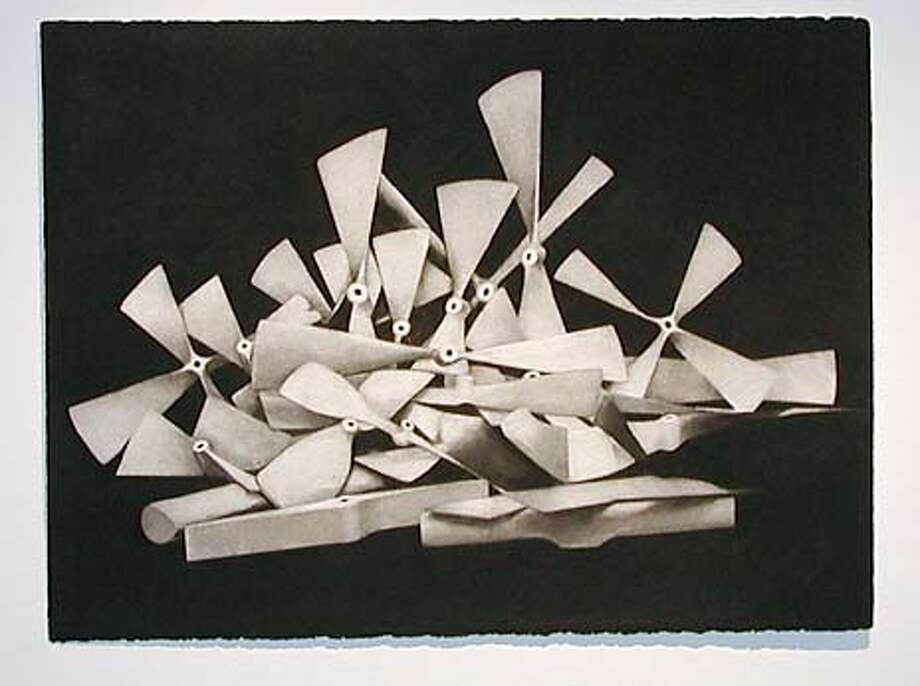 """""""Drawing of a Pile of Propellors (after Marcel Duchamp)"""" (2001) raw carbon on paper by Thomas Zummer.  (HANDOUT PHOTO) Photo: HANDOUT"""