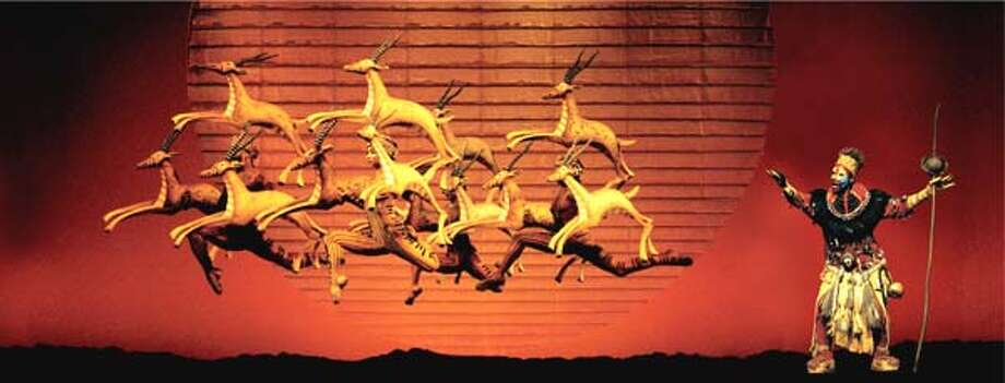The Lion King onstage, NY