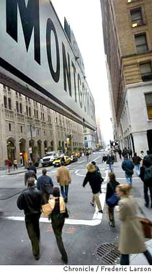 ; The investment banking community in SF, once nearly extinct after local firms were bought out last decade, is making a comeback as new firms move in and existing ones add bankers to get ready for anticipated surge in deals. The hustle of Montgomery Street at rush hour. City:� 1/23/04, in San Francisco, CA. Frederic Larson/The Chronicle; Photo: Frederic Larson