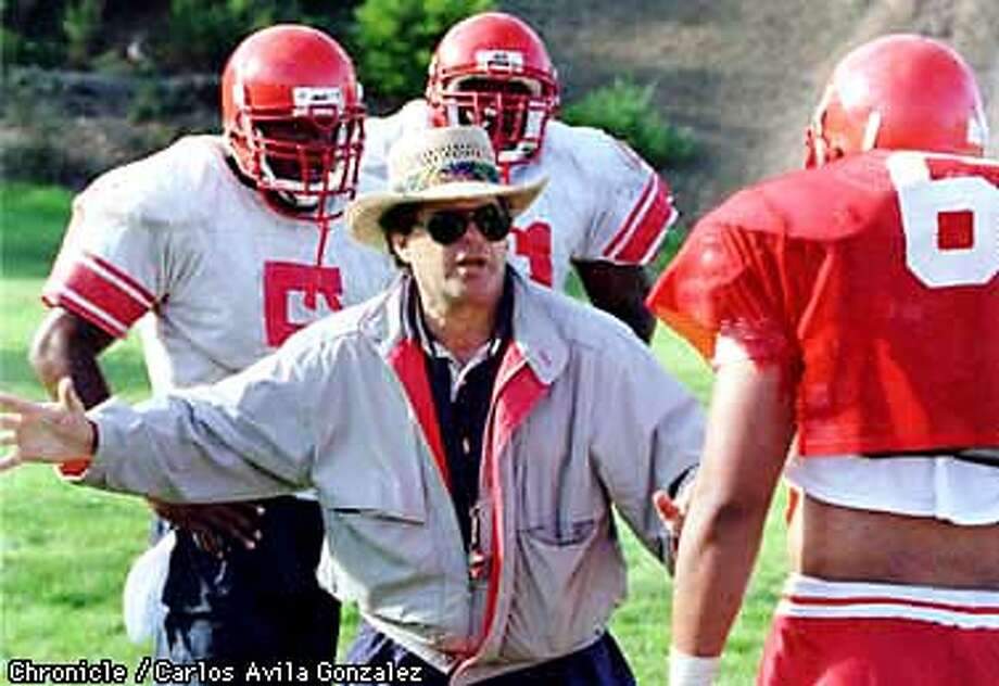 San Francisco City College football coach George Rush during practice. (CHRONICLE PHOTO BY CARLOS AVILA GONZALEZ) Photo: CARLOS AVILA GONZALEZ