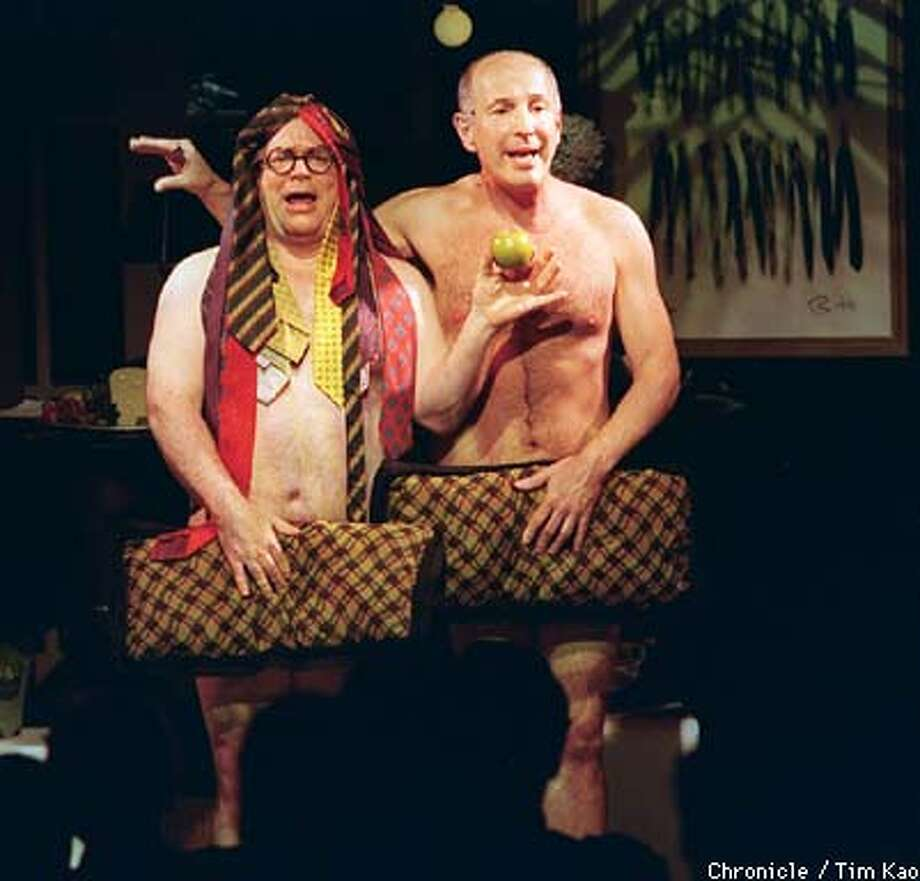=Free Food and Frontal Nudity, a 2-man play at the Cable Car Theater. PHOTO BY TIM KAO/THE CHRONICLE Photo: TIM KAO