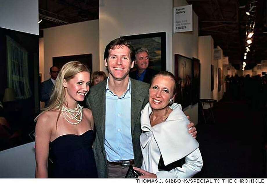 Victoria Traina, Todd Traina and new gallerist (and author) Danielle Steele. PHOTO BY THOMAS J. GIBBONS/SPECIAL TO THE CHRONICLE
