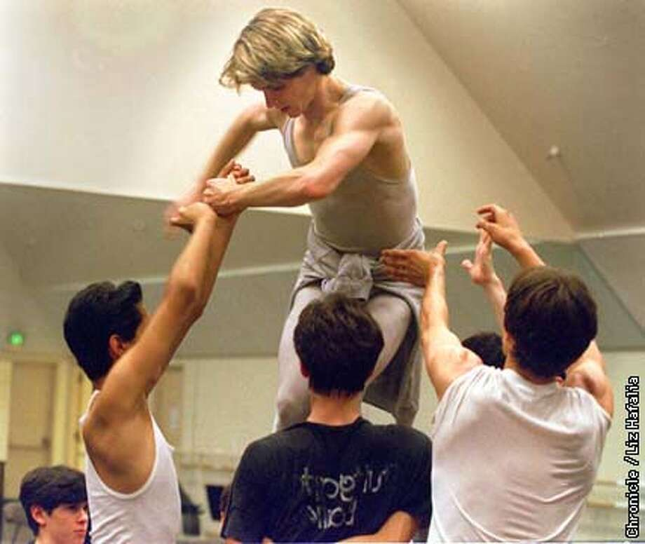 "Principal dancer Christopher Newnamm during rehearsal of ""Death In Venice"". Liz Hafalia Photo: Liz Hafalia"