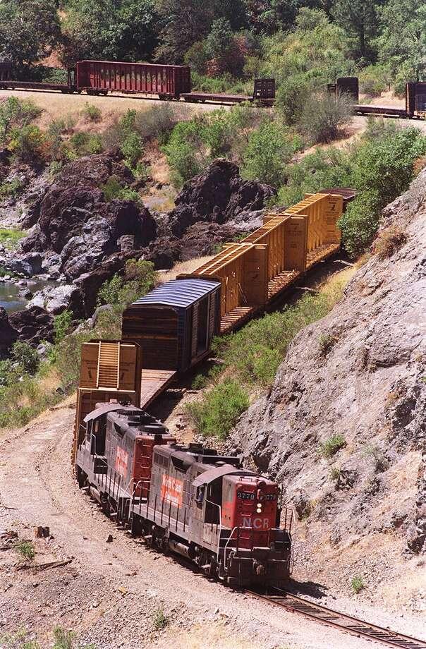 A train winds it's way through the Eel Canyon. PHoto BNy Lea Suzuki