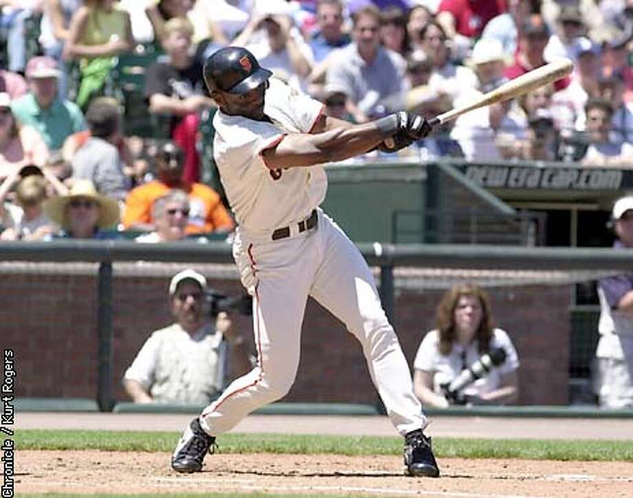 Reggie Sanders First home run of the day in the third.Photo By Kurt Rogers Giants vs the A's Photo: Kurt Rogers