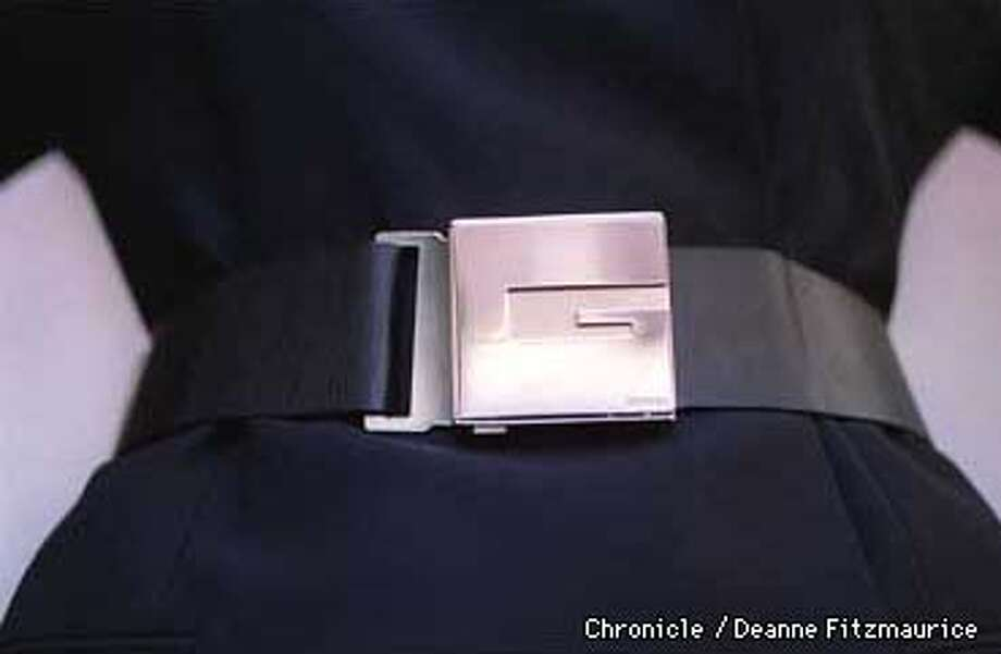 This is a new style Gucci belt. CHRONICLE PHOTO BY DEANNE FITZMAURICE