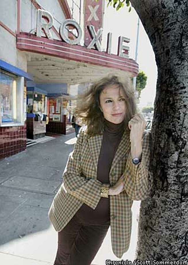 "Jacquelline Bissett outside the Roxie Theater on 16th Street in San Francisco. She is starring in a new movie called ""Sleepy Time Gal"" where she plays a woman who used to be a late-night radio DJ who's been diagnosed with cancer. (SF CHRONICLE PHOTO BY SCOTT SOMMERDORF) Photo: SCOTT SOMMERDORF"