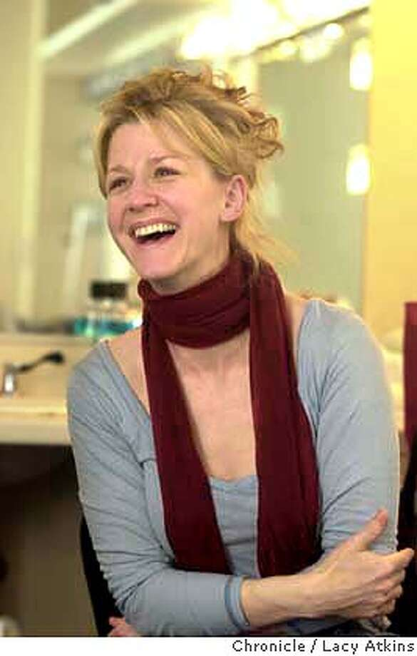 """AUGESEN_012_.jpg  Rene Augensen, leading lady at ACT talks about her role in the Ibsen's protofeminist classic """"A Doll's House"""", in her dressing room at the theater, Jan.13, 2004, in San Francisco.  Lacy Atkins / The Chronicle MANDATORY CREDIT FOR PHOTOG AND SF CHRONICLE/ -MAGS OUT Photo: Lacy Atkins"""