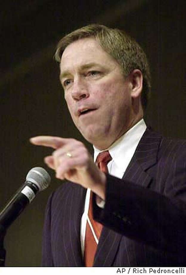 ** FILE ** Republican Rep. Doug Ose, seen here in file photo taken Saturday, Feb. 22, 2003, in Sacramento, Calif., won't run for the U.S. Senate or seek re-election to the House of Representatives next year, he said Friday, May 16, 2003, in a letter to friends and supporters. His decision leaves California Republicans without a significant challenger to Democratic Sen. Barbara Boxer less than 18 months before the election.(AP Photo/Rich Pedroncelli, File) Rep. Doug Ose is upset at TV and the FCC for letting the words be aired. Rep. Doug Ose Rep. Doug Ose CAT Photo: RICH PEDRONCELLI