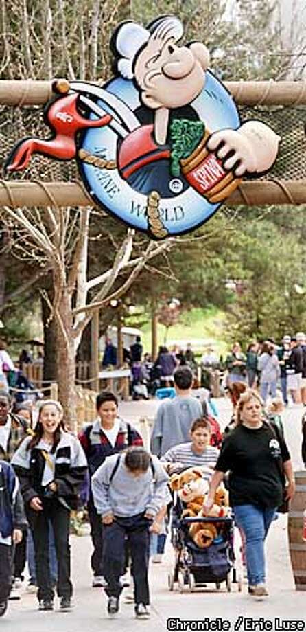 Marine World's had a good showing on it's first open day for the upcoming season. Many patrons were upset over the few new rides that were still under construction when they were expected to pay the full fee. After complaints comp tickets were issued to those that spoke up. Photo by Eric Luse Photo: ERIC LUSE