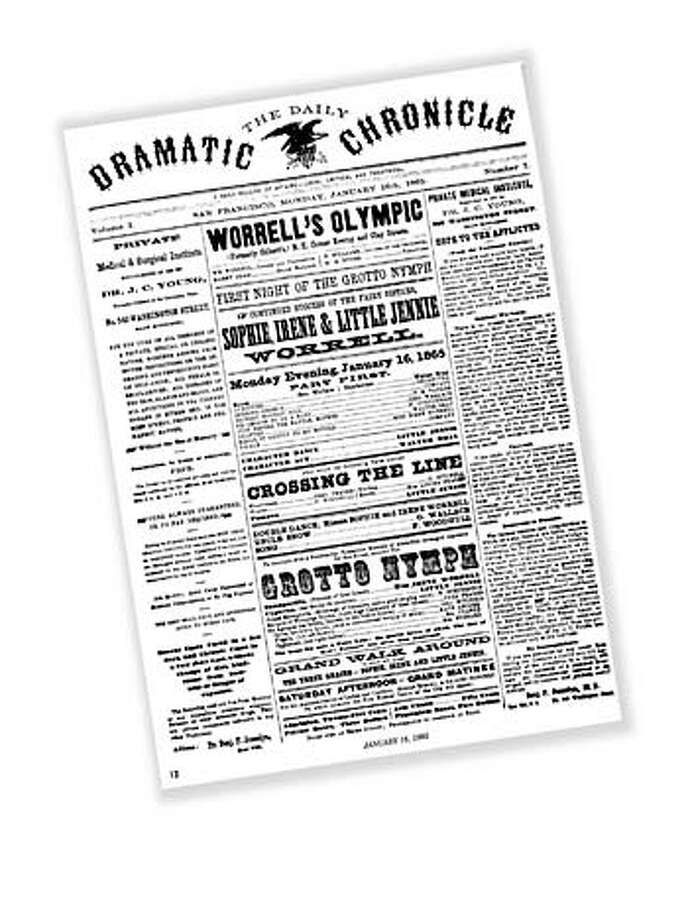 Front page of the first San Francisco Chronicle January 16, 1965.