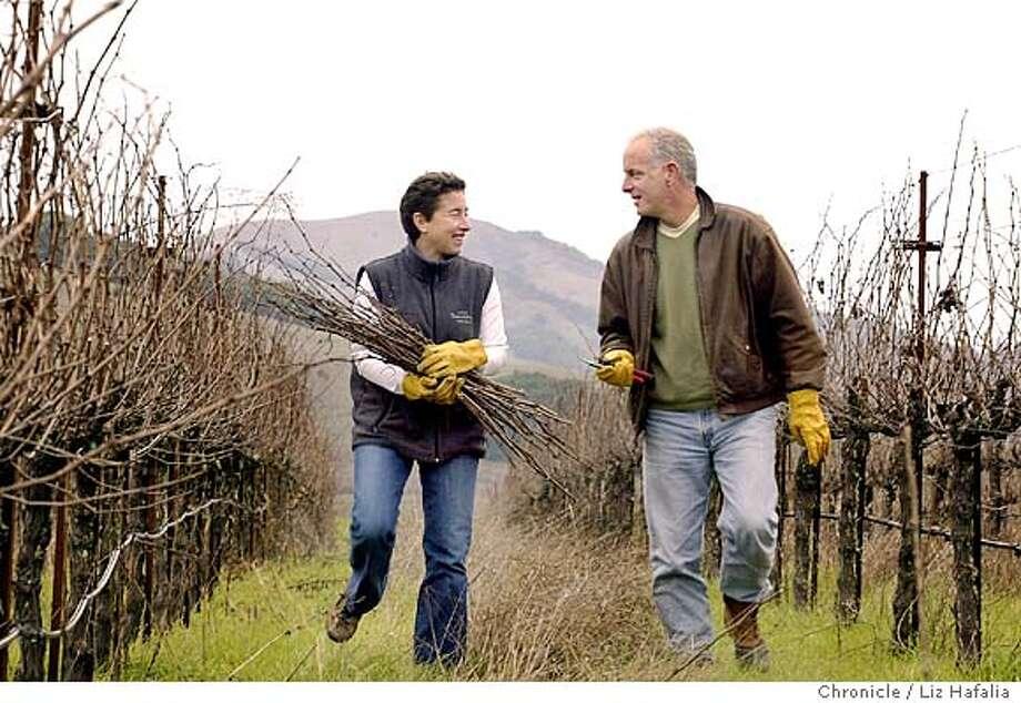 Jonathan and Susan Pey of Pey-Marin Vineyards and Mount Tamalpais Vineyards. Shot on 1/6/04 in Petaluma. LIZ HAFALIA / The Chronicle Photo: LIZ HAFALIA