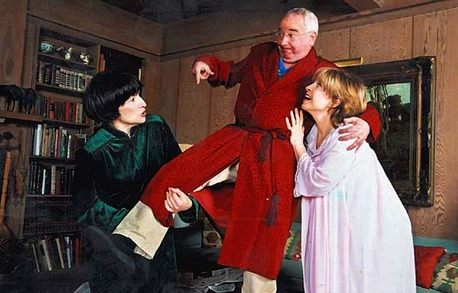 """""""the last schwartz"""" starrs left to right Norma (Sharon Lockwood), Herb (Michael Tucker) and Bonnie (Jill Eikenberry) plays at Marin Theatre Company,"""