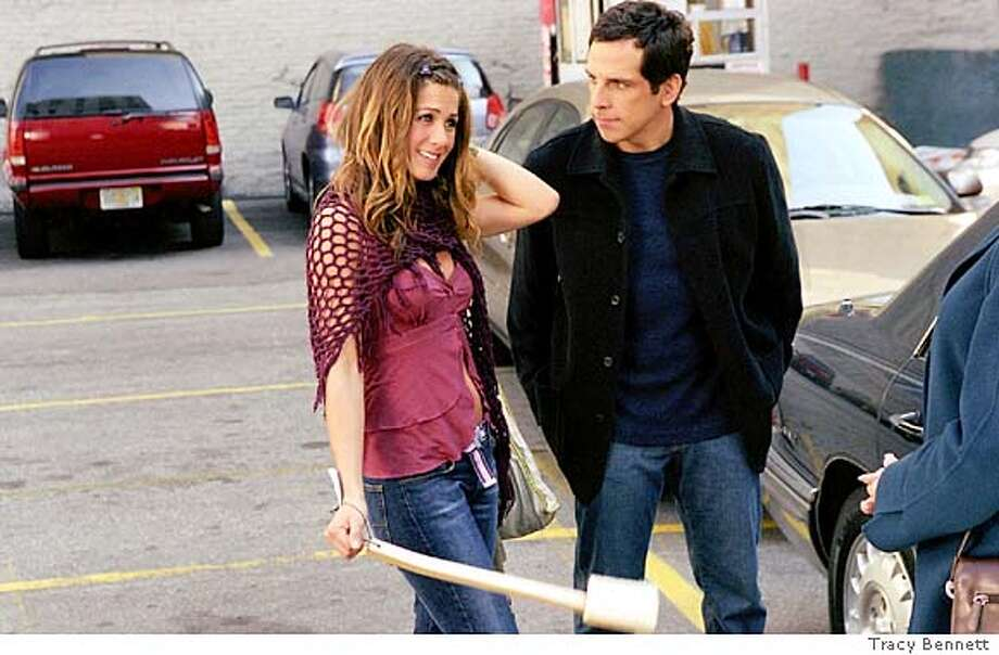 POLLY16  BEN STILLER as Reuben Feffer and JENNIFER ANISTON as Polly Prince in the new romantic comedy from writer/director John Hamburg, Along Came Polly. Jennifer Aniston and Ben Stiller in &quo;Along Came Polly.&quo;
