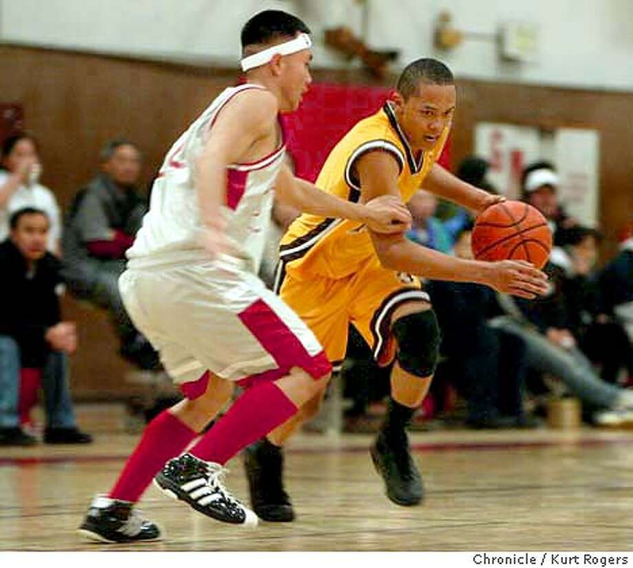 Mission at Washington in Boys Basketball. Mission's #3 JJ Payne and Washington's Alan Wu in 4th quarter action. Event on 1/16/04 in San Francisco. KURT ROGERS / The Chronicle Photo: KURT ROGERS