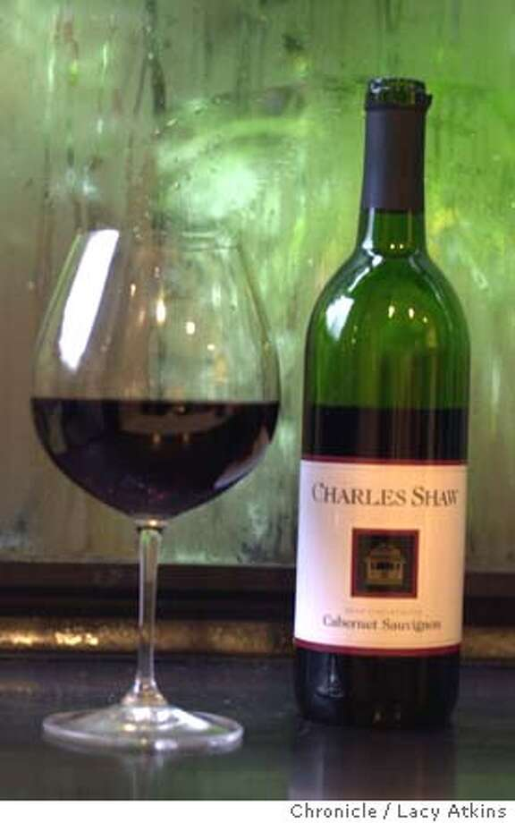 SHAW1-C-19DEC02-FD-LA  Charles Shaw, cabernet from trader Joes for $1.99.  SAN FRANCISCO CHRONICLE/LACY ATKINS Photo: LACY ATKINS