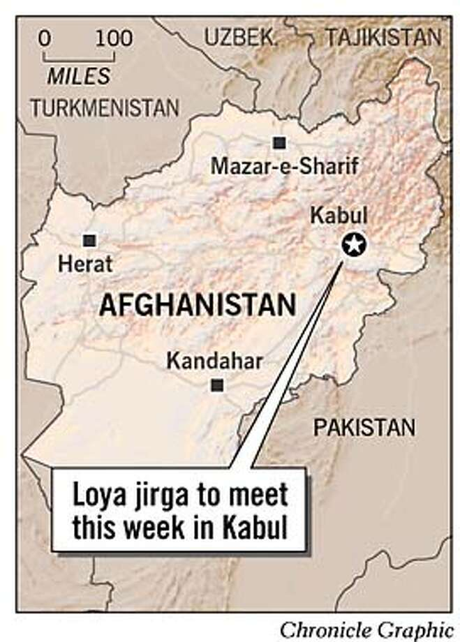 Kabul, Afghanistan. Chronicle Graphic