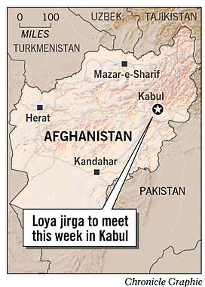 Kabul, Afghanistan. Chronicle Graphic