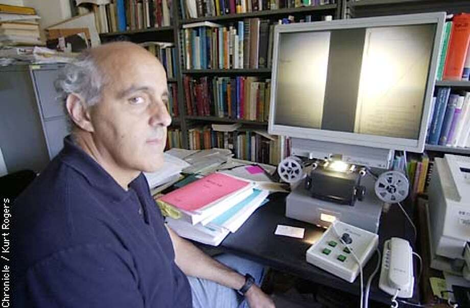 David Cohen is the director of The new Berkeley War Crimes Study Center at UC is the world's only repository for the records of the many war crimes trials conducted at the end of World War II. No one has ever collected all the records before, and now they're relevant and needed because of the new wave of war crimes trials now being launched around the globe. photo By Kurt rogers Photo: Kurt Rogers