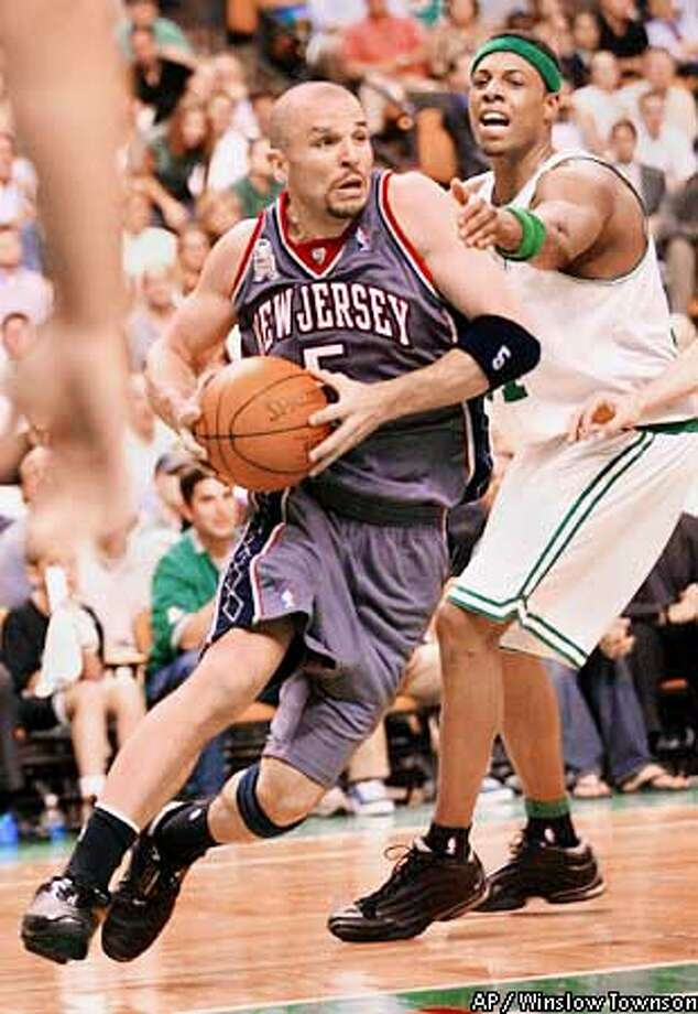 Former Cal star Jason Kidd led St. Joseph of Alameda to two prep championships and now threatens to add an NBA ring with the Nets. Associated Press photo by Winslow Townson