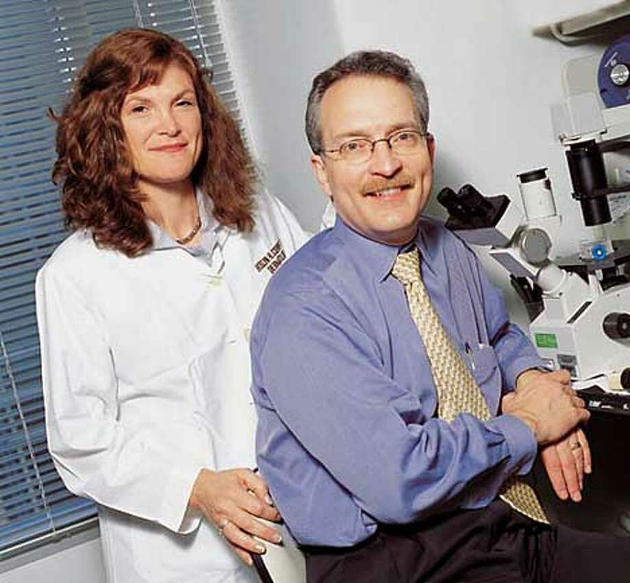 UC Davis Professors Rivkah Isseroff (left) and Ivan Schwab are working on an experimental cure for a rare form of blindness. Photo courtesy of University of California, Davis