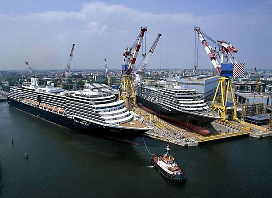 TRAVEL CRUISE -- Holland America's Westerdam, due for delivery in April 2004, will join the line's Oosterdam and Zuiderdam as the fleet's largest ships.  Photo courtesy Holland America Line