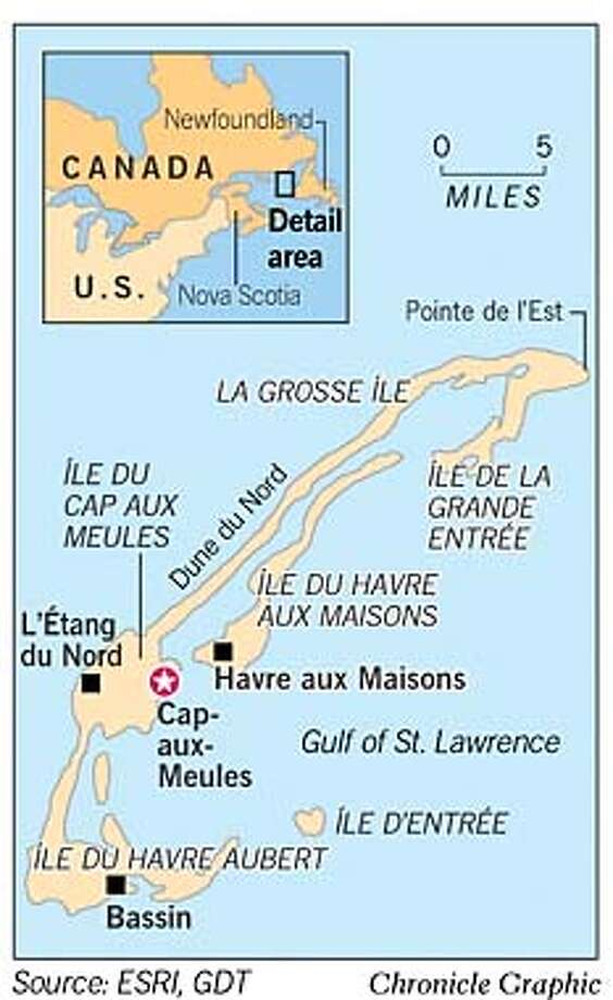 Magdalen Islands. Chronicle Graphic