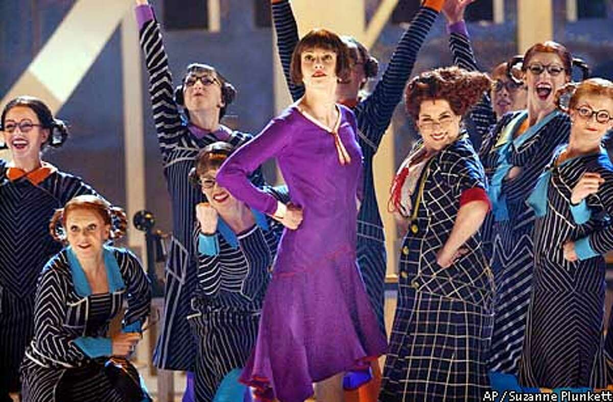 """The cast of """"Thoroughly Modern Millie"""" perform during the 56th annual Sunday, June 2, 2002, at New York's Radio City Music Hall. """"Millie"""" won the Tony for Best Musical. (AP Photo/Suzanne Plunkett)"""