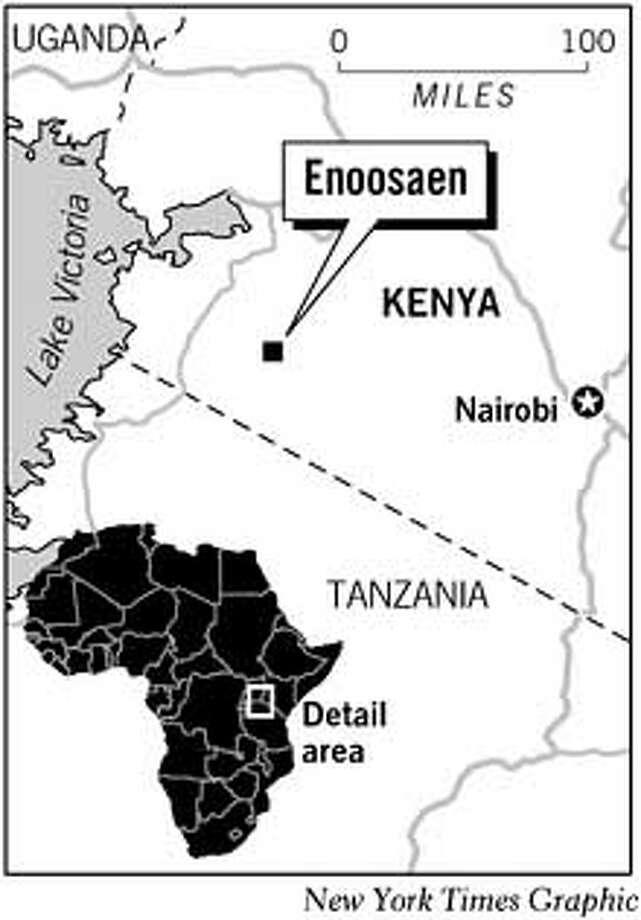 Masai Tribe, Enoosaen, Kenya. New York Times Graphic