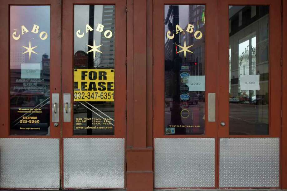 Once a downtown hotspot, the recent closure of Cabo highlighted the shaky market for restaurants there. Photo: James Nielsen / © 2011 Houston Chronicle