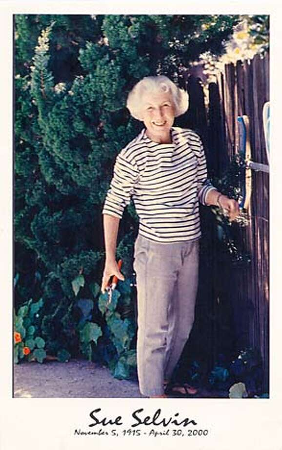Force of nature: Before Alzheimer's sapped her strength, Sue Selvin worked hard in her garden. Photo courtesy of the Selvin family