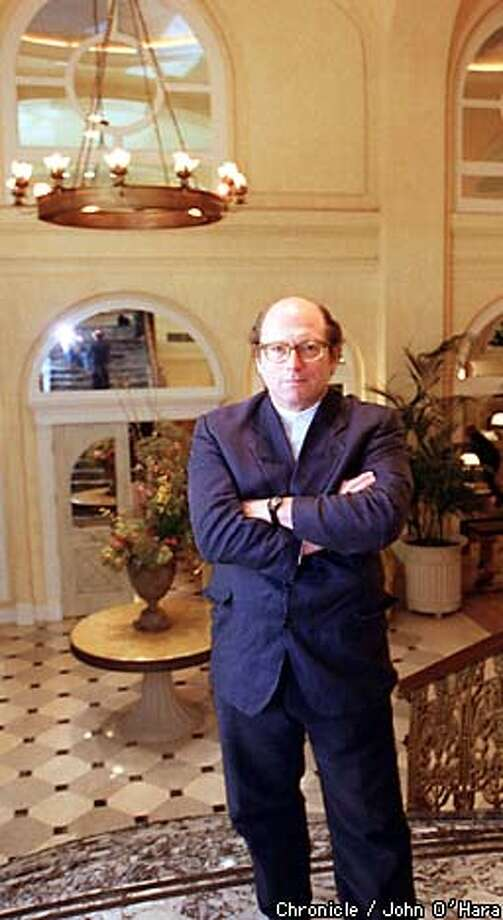 "Oscar Hijuelos, shown here in the lobby of the Monaco Hotel in San Francisco, imagines pre-World War II Cuba in his new novel, ""A Simple Habana Melody (From When the World Was Good)."" Chronicle photo by John O'Hara"