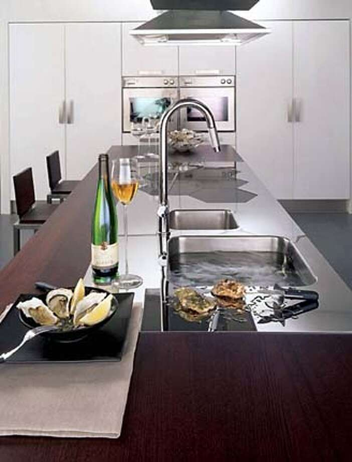 for Hevents07; the clean, contemporary, uncluttered look that defines European kitchen design. , / HO