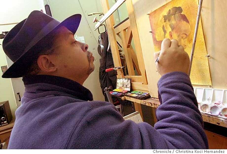 CHRISTINA KOCI HERNANDEZ/CHRONICLE Feature on Oakland artist Andre White. The mostly self-taught painter was commissioned to paint a portrait of Martin Luther King for the City of Oakland. The painting will be unveiled Friday, Jan. 9, as Oakland celebrates MLK's 75th birthday. White's other works include a portrait of former Congressman Ron Dellums, which hangs in Capitol Hill. MANDATORY CREDIT FOR PHOTOG AND SF CHRONICLE/ -MAGS OUT Photo: CHRISTINA KOCI HERNANDEZ