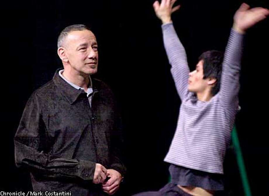 PORTRAIT OF CHOREOGRAPHER AND DIRECTOR JEO GOODE AT WORK WITH DANCER MARC MOROZUMI AT THE ZELLERBACH PLAYHOUSE IN BERKELEY. Photo: Mark Costantini/SF Chronicle Photo: MARK COSTANTINI