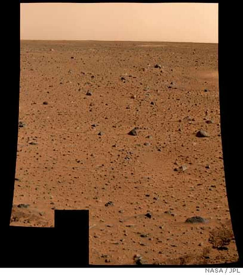 This is the first color image of Mars taken by the panoramic camera on the Mars Exploration Rover Spirit released by the Jet Propulsion Laboratory in Pasadena, California January 6, 2004. It is the highest resolution image ever taken on the surface of another planet. (MEDIUM RESOLUTION FROM SOURCE, ) EDITORIAL USE ONLY REUTERS/NASA/JPL/Cornell University/Handout Photo: HO
