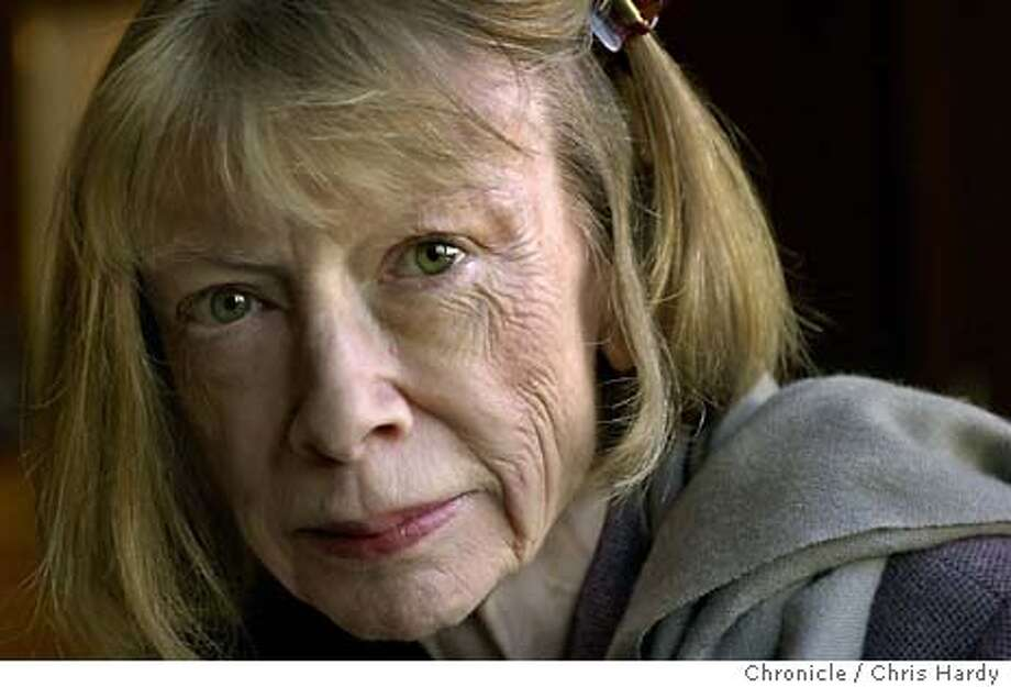 didion001_ch  Portrait of author Joan Didion.  Event on 10/20/03 in San Francisco. CHRIS HARDY / The Chronicle MANDATORY CREDIT FOR PHOTOG AND SF CHRONICLE/ -MAGS OUT Photo: CHRIS HARDY