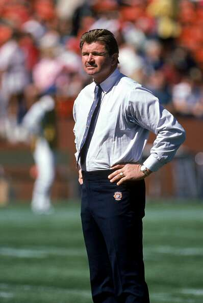 SAN FRANCISCO - OCTOBER 13:  Head coach Mike Ditka of the Chicago Bears looks on as the Bears prepar