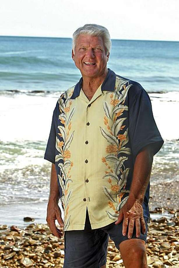 In this publicity image released by CBS, former NFL coach Jimmy Johnson is shown on the shores of San Juan Del Sir in Nicaragua. The 67-year-old former coach of the Dallas Cowboys and Miami Dolphins was the third person voted off the Nicaragua-set 21st edition of the CBS reality TV competition. Johnson, the oldest member of the Espada tribe, declared himself the weakest castaway at Tribal Council and was unanimously voted off the show by his fellow mature tribemates. Photo: Monty Brinton, AP