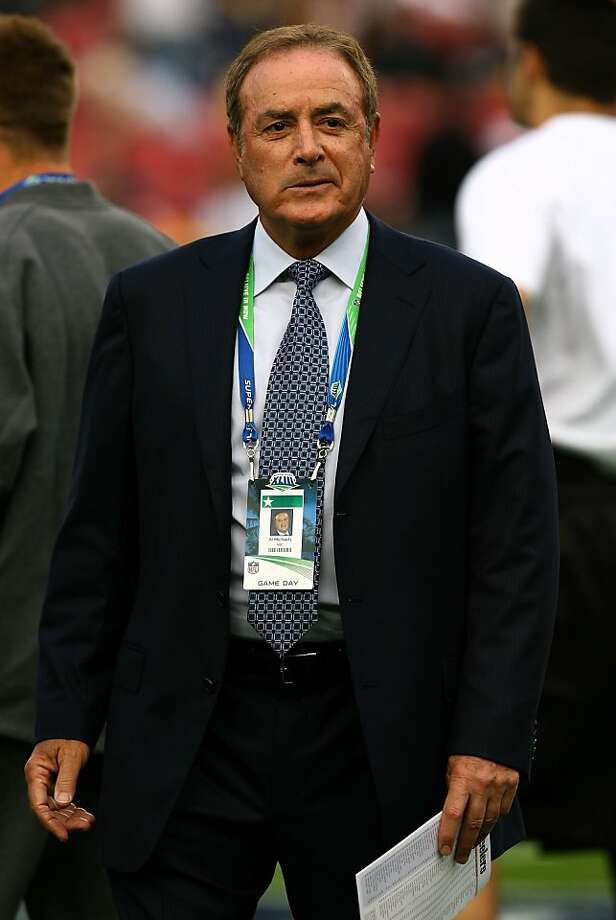 TAMPA, FL - FEBRUARY 01:  NBA football commentator Al Michaels walks on the field prior to Super Bowl XLIII between the Arizona Cardinals and the Pittsburgh Steelers on February 1, 2009 at Raymond James Stadium in Tampa, Florida.  (Photo by Jamie Squire/Getty Images) Photo: Jamie Squire, Getty Images