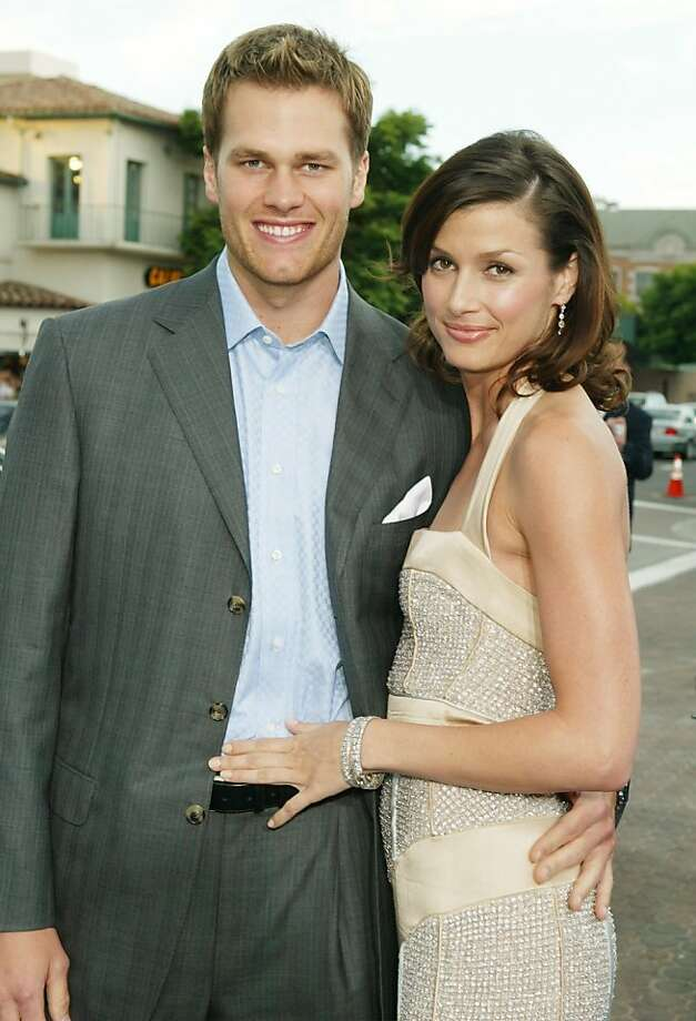 "LOS ANGELES - JULY 7:  NFL quarterback Tom Brady and actress Bridget Moynahan attend the premiere of 20th Century Fox's ""I, Robot"" at the Village Theater on July 7, 2004 in Los Angeles, California. (Photo by Kevin Winter/Getty Images) Photo: Kevin Winter"