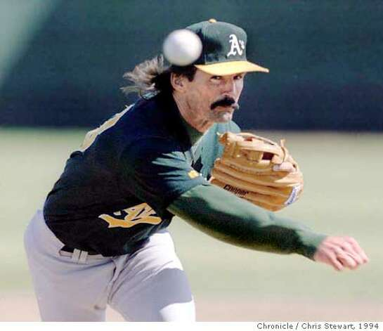 Oakland A's pitcher Dennis Eckersley was born in Oakland and attended Washington High in Fremont. He was drafted by the Cleveland Indians in the third round straight out of high school. Photo: Chris Stewart