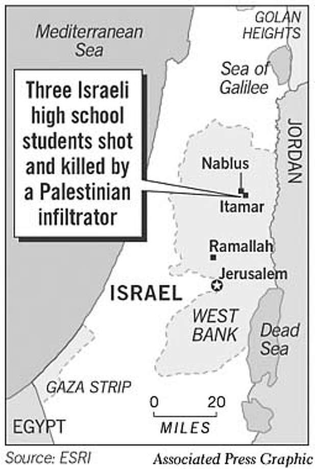 Palestinian Gunman Kills 3 Israeli Students. Associated Press Graphic