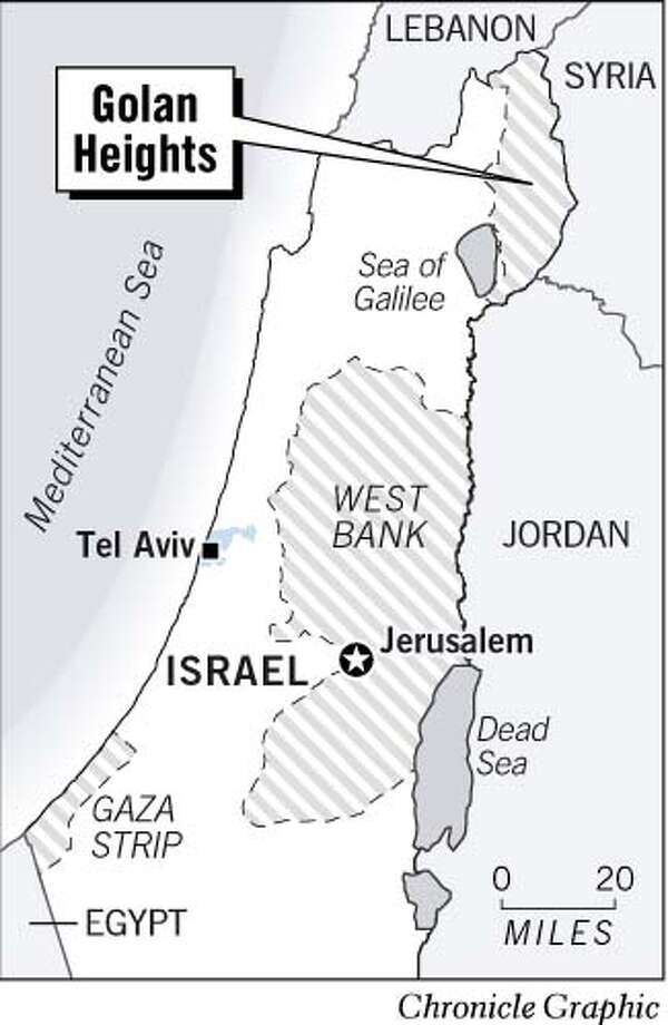 Golan Heights. Chronicle Graphic