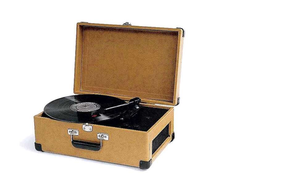 Turntable by Crosely ($129.95) is available at Restoration Hardware.