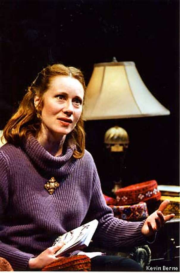 """Michelle Morain is the Homebody in Tony Kushner's """"Homebody /Kabul'': It's a passionate and deeply thoughtful play. Photo courtesy of Kevin Berne"""