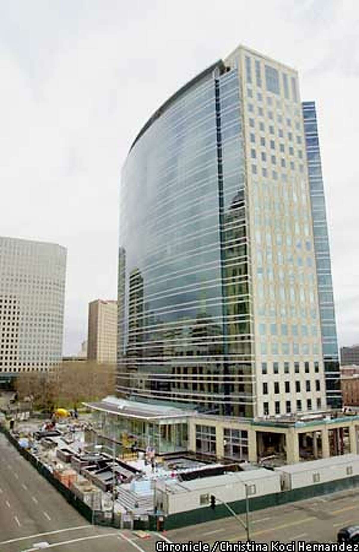 The Shorenstein Co.'s new building at City Center in Oakland is less than one-quarter leased. Chronicle photo by Christina Koci Hernandez