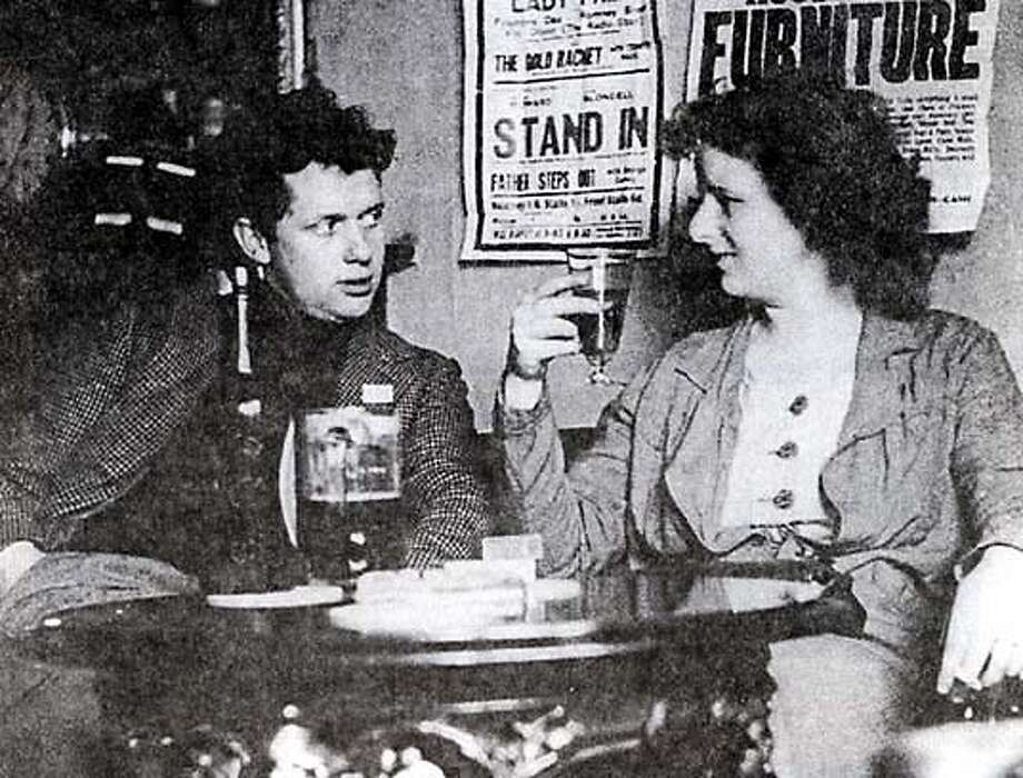 "Dylan and Caitlin Thomas in a pub, circa 1938. From ""Among the Bohemians."""
